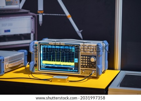 Control and measuring device. Signal generators. Royalty-Free Stock Photo #2031997358