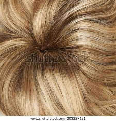 Open wave hair fragment as a texture background composition #203227621