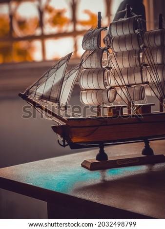 Portrait ship,pic of a small boat