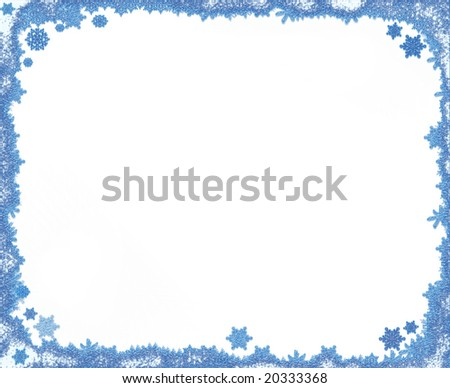 Christmas snowflake frame, background with copy space #20333368