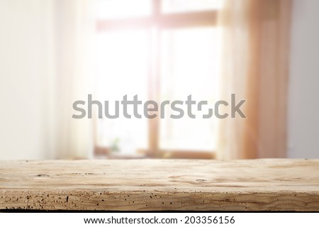 desk and window of morning