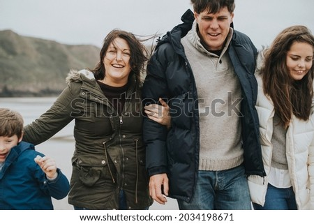 Cheerful family spending time together