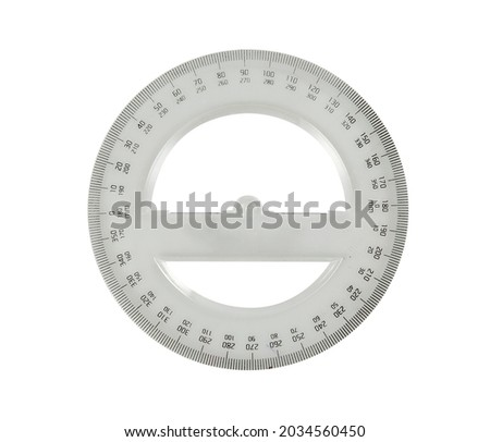 Protractor Scale on white background, Protractor Scale