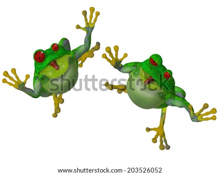 3d cartoon frog #203526052