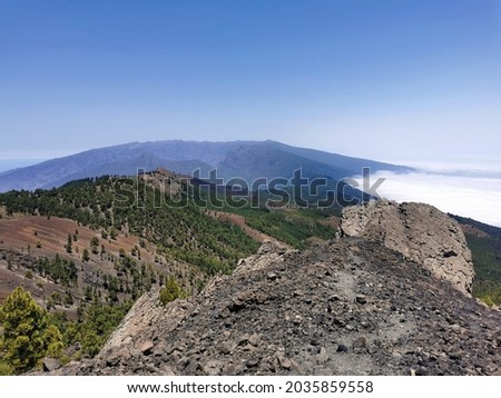 """Peak Nambroque on the """"ruta de los volcanes"""" (route of the volcanos) on the island of La Palma (Canaries, Spain) Royalty-Free Stock Photo #2035859558"""