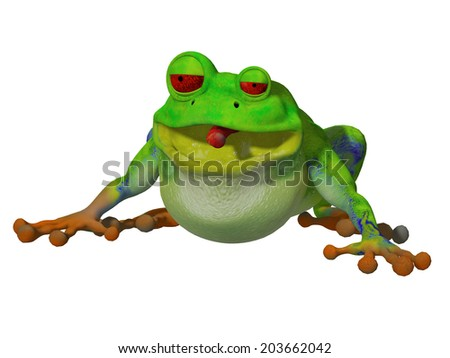 3d cartoon frog #203662042