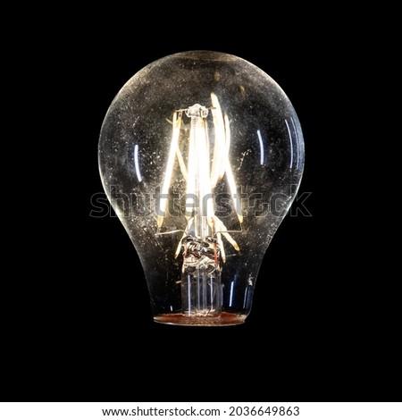 Black background Light bulbs for Photo editing screens