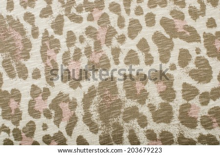 Brown and pink leopard pattern. Animal print as background.
