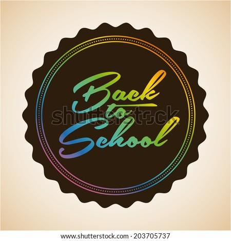 School design over beige background, vector illustration #203705737