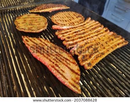 meatballs on the grill - kofte izgara Royalty-Free Stock Photo #2037088628