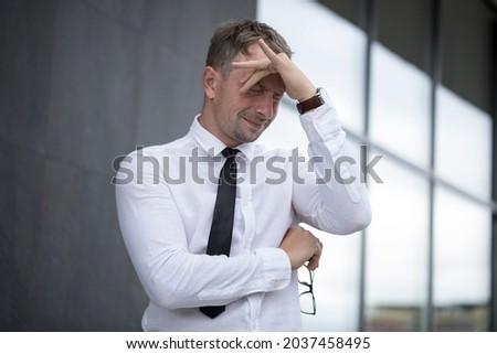 Portrait of depressed man. Depression. Problem business man. Male. Photo. Idea. Background.