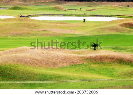 Beautiful golf place with nice background for adv or others purpose use #203752006