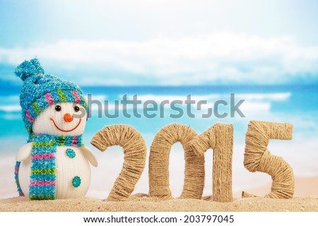 New year 2015 sign Royalty-Free Stock Photo #203797045
