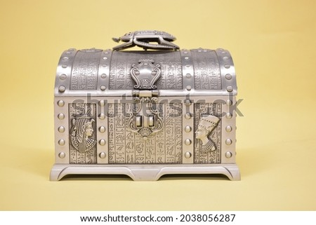 Ancient Style Jewelry Metal Box  Royalty-Free Stock Photo #2038056287