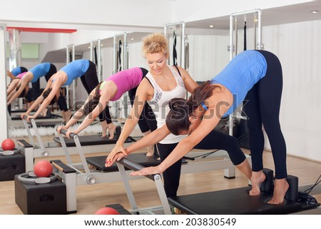 Women training in the gym #203830549