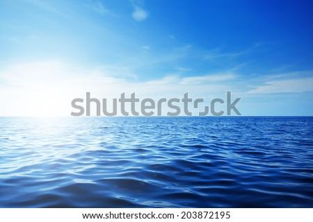 Blue ocean and beautiful blue sky #203872195
