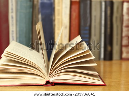 book with library on the back  #203936041