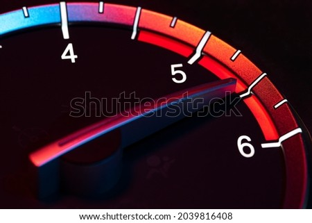 Rpm car odometer detail symbol of power and speed Royalty-Free Stock Photo #2039816408