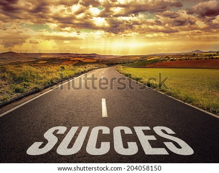 Concept of the road to success and better future.  #204058150