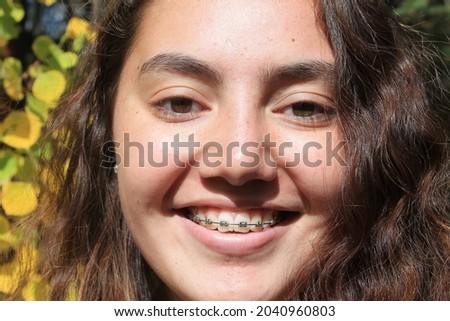 Fun fall teen photo shoot multiracial Samoan female