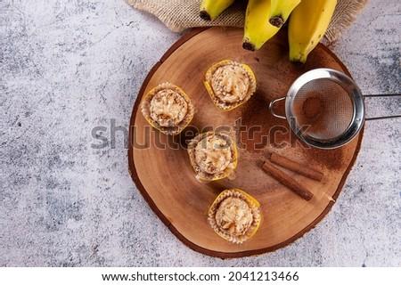 Banana and Cinnamon Gourmet Brigadeiro. Typical Brazilian sweet. Royalty-Free Stock Photo #2041213466