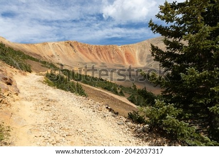 Handcart Gulch 4x4 trail, Webster Pass, CO  Royalty-Free Stock Photo #2042037317