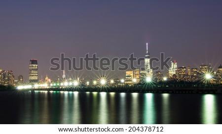 New York City and Jersey City Skyline #204378712