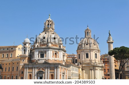 Old architecture in Piazza Venezia in the historical centre of Rome, Italy #204389503