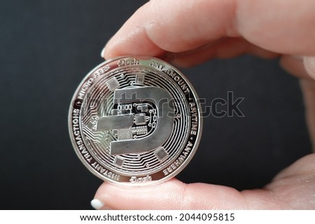 Dash (DASH) is digital cash designed to offer financial freedom to everyone. Payments are instant, easy  secure, with near-zero fees. Royalty-Free Stock Photo #2044095815