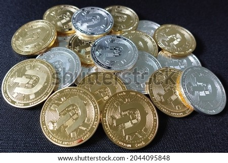 Dash (DASH) is digital cash designed to offer financial freedom to everyone. Payments are instant, easy  secure, with near-zero fees. Royalty-Free Stock Photo #2044095848