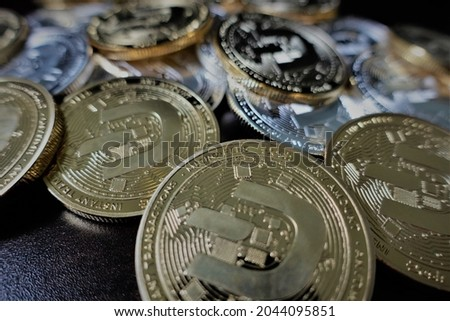 Dash (DASH) is digital cash designed to offer financial freedom to everyone. Payments are instant, easy  secure, with near-zero fees. Royalty-Free Stock Photo #2044095851