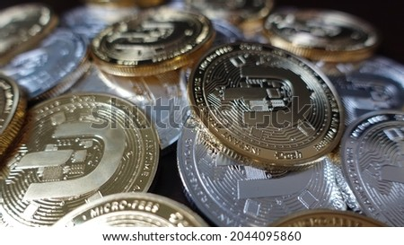 Dash (DASH) is digital cash designed to offer financial freedom to everyone. Payments are instant, easy  secure, with near-zero fees. Royalty-Free Stock Photo #2044095860