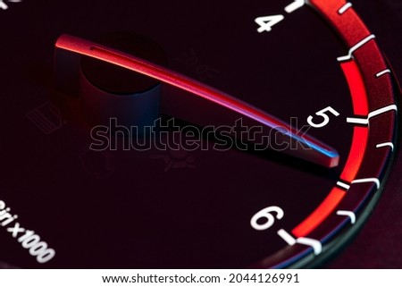 Rpm car odometer detail symbol of power and speed Royalty-Free Stock Photo #2044126991