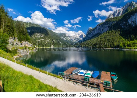 Tranquil lake in the high mountains Alps Austria #204426619