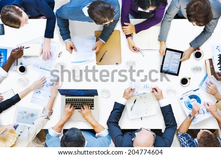 Diverse Business People on a Meeting Royalty-Free Stock Photo #204774604
