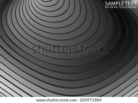 Vector silver abstract ripples template background -  Metal background vector design illustration #204971884