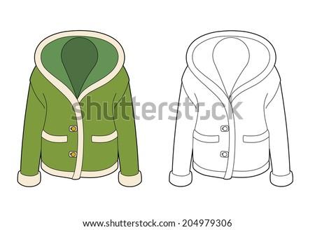 Green jacket #204979306