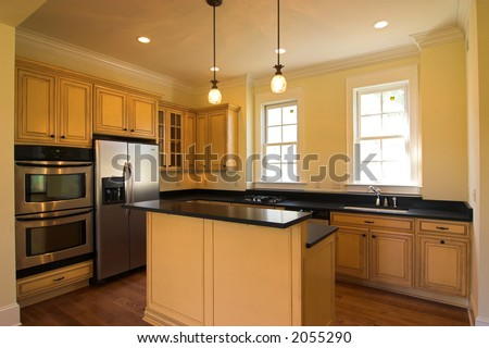 expensive kitchen with island and appliances #2055290