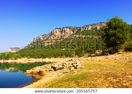 Rocky landscape with mountains reservoir.  Cuenca #205565797