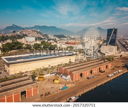 Rio Star, a Ferris wheel in Rio de Janeiro, is one of the most sought after attractions in the Marvelous City.  At 88 meters high, the equivalent of a 25-story building, it is the largest Ferris whee Royalty-Free Stock Photo #2057320751