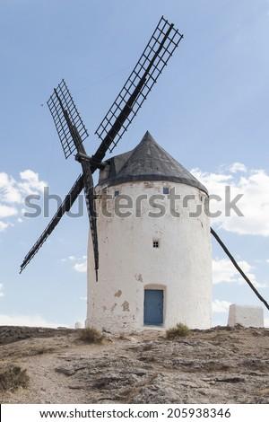 Photo of beautiful windmills in Consuegra, Toledo, Spain #205938346