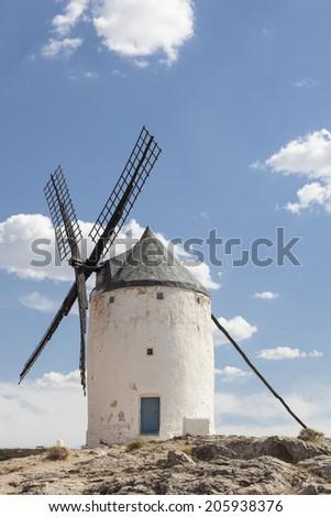 Photo of beautiful windmills in Consuegra, Toledo, Spain #205938376