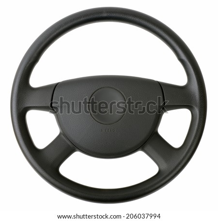 steering wheel isolated on white  #206037994