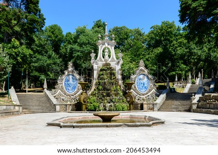 Fountain in Parque de Santa Cruz, Coimbra (Portugal) #206453494