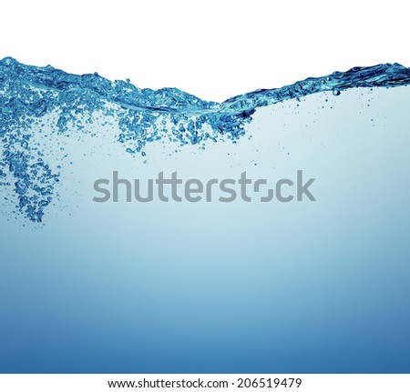 Water and air bubbles over white background  #206519479