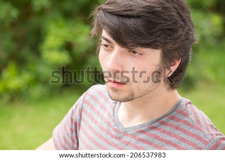 A young male model is surprised #206537983