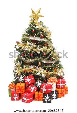 Christmas tree with decorations #20682847