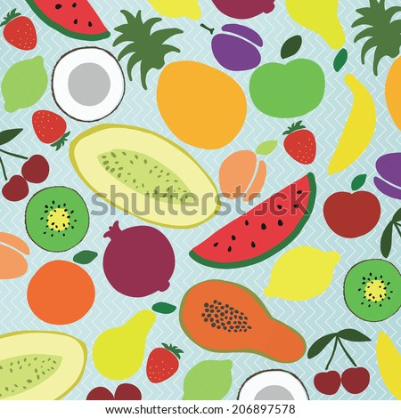 Vector collection of various fruits #206897578