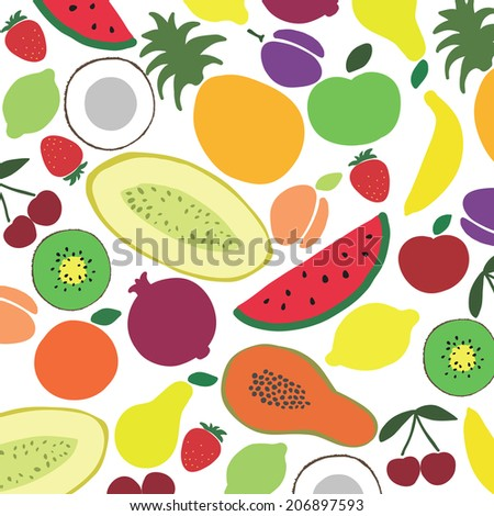 Vector collection of various fruits #206897593
