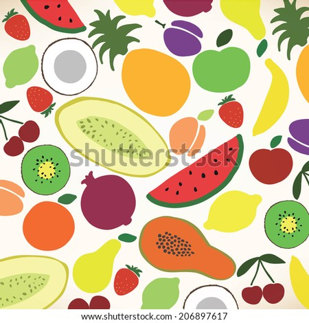 Vector collection of various fruits #206897617